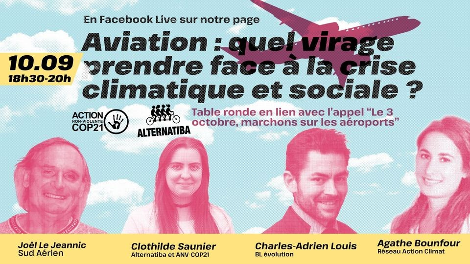"Table ronde ""Aviation : quel virage face à la crise climatique ?"""