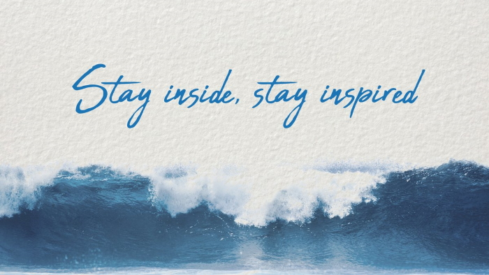 "Le programme ""stay inside, stay inspired"" créé par Surfrider Europe"