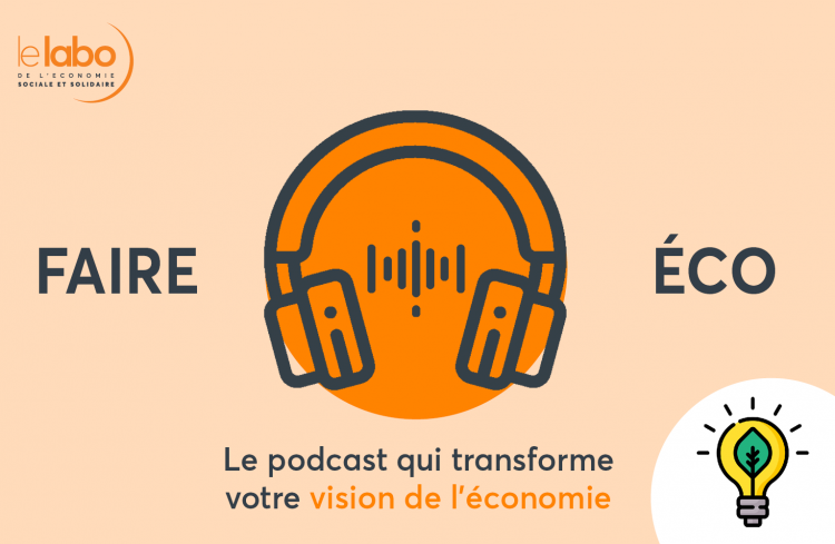 "Logo podcast ""Faire Éco"""