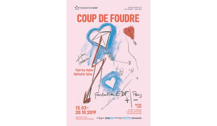 EXPOSITION : FABRICE HYBER & NATHALIE TALEC « COUP DE FOUDRE »