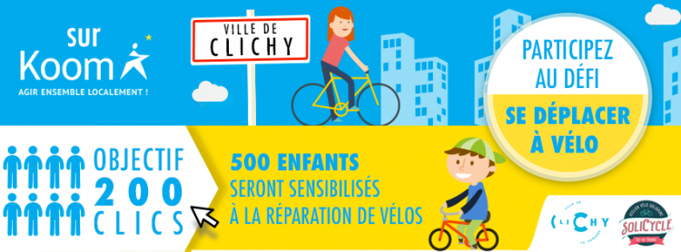 200 CLICS = 5000€ pour SoliCycle Clichy