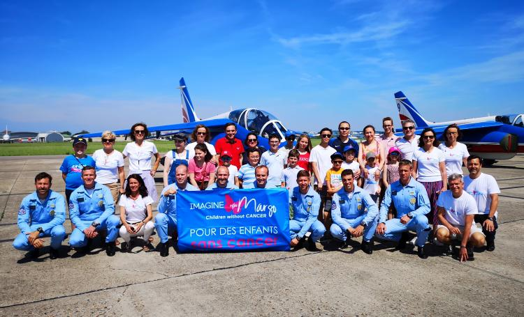 La Patrouille de France, marraine d'Imagine for Margo